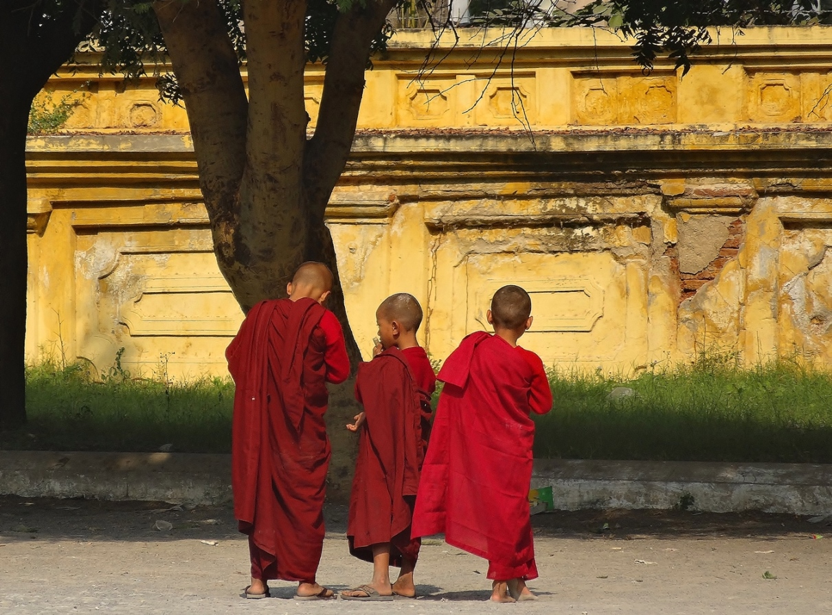 burma novice monks