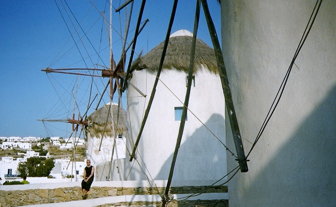 greece windmills mykonos