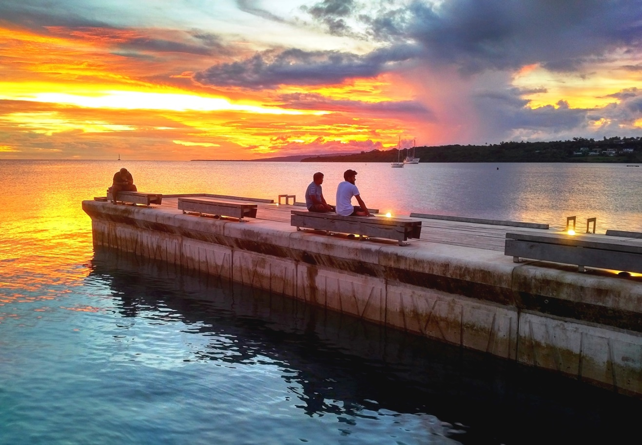 port vila sunset
